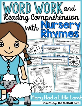 Word Work and Reading Comprehension with Nursery Rhymes: Mary Had a Little Lamb