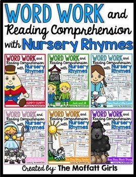 Word Work and Reading Comprehension with Nursery Rhymes: The BUNDLE