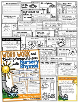 Word Work and Reading Comprehension with Nursery Rhymes: The Itsy Bitsy Spider