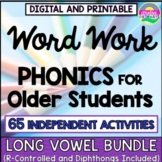Phonics Word Work-Reading Intervention-Long Vowels for Upper Grades