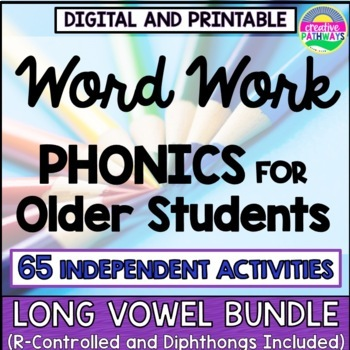 Phonics Word Work, Phonics Intervention, Reading Intervent