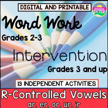 Reading Intervention Program, Phonics Intervention, R-Controlled