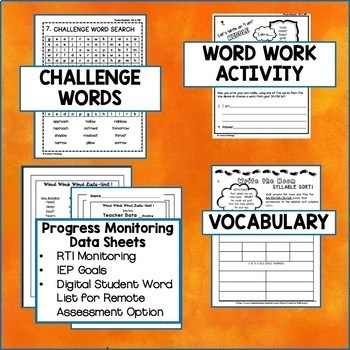 Phonics Word Work, Word Work for Third Grade, Vowel Digraphs,oa,ow,igh,-y
