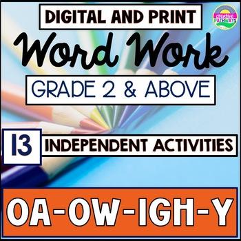 Phonics Word Work, Word Work for Third Grade, Vowel Digrap