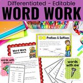 Word Work and Spelling Activities Big Bundle   EDITABLE