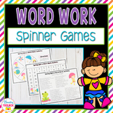 Word Work / Spelling Spinner Games for the Whole Year