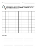 Word Work and Spelling Word Search Template