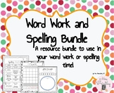 Word Work and Spelling templates bundle pack