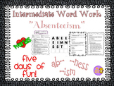 "Word Work and Vocabulary 5-Day Intermediate Unit ""ABSENTEEISM"""