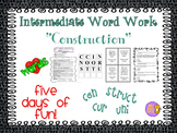 "Word Work and Vocabulary 5-Day Intermediate Unit ""CONSTRUCTION"""