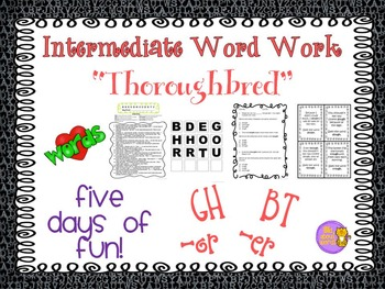 """Word Work and Vocabulary 5-Day Intermediate Unit """"THOROUGHBRED"""""""
