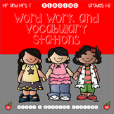 Word Work and Vocabulary Activities