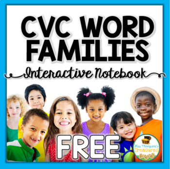 Free Download CVC Word Family Interactive Notebook Freebie