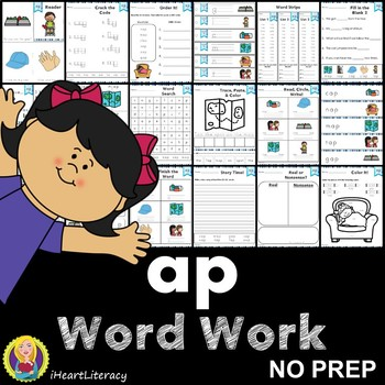ap Word Family Word Work and Activities - Short A