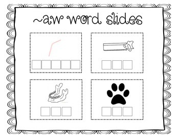 Word Work - au, aw, aught, ought