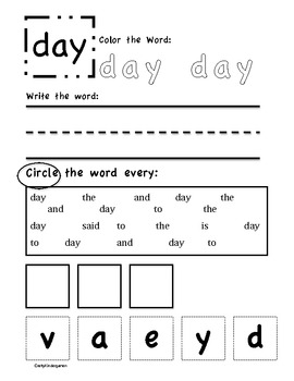Word Work, day