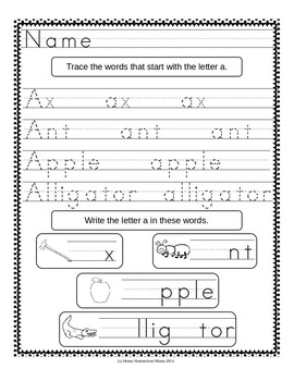 Word Work for Beginners - Print and Go Beginner Sounds Worksheets