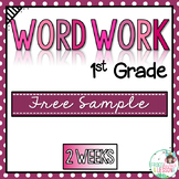First Grade Word Work Activities Whole Year! - Free Sample