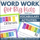#fireworks2020 Word Work for Big Kids: Vocabulary Activities