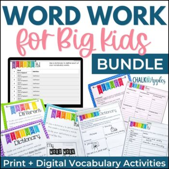 Word Work for Big Kids BUNDLE - Distance Learning