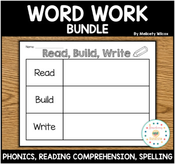 Word Work for Centers Writing, Spelling, Reading Practice