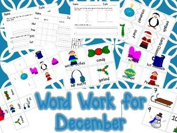 Word Work for December Center