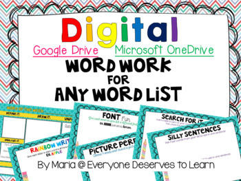 Word Work for Google Drive
