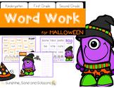 Word Work for Halloween