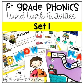 Word Work Activities for Level E