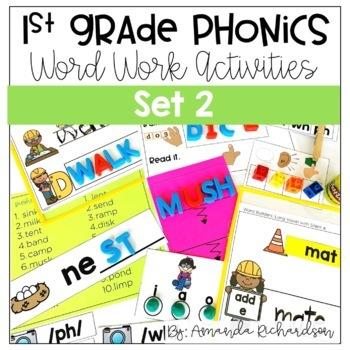 Word Work Activities for Level F