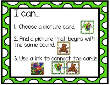 Word Work for Little People:  Alphabet Linking Cards