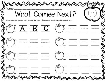 Word Work for Little People:  What Comes Next in the Alphabet?