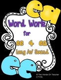 Word Work for Long E: /ea/ and /ee/ patterns
