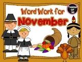 Word Work for November Center 1$