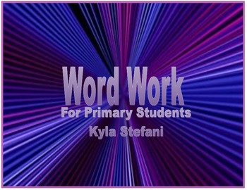Word Work for Primary Students