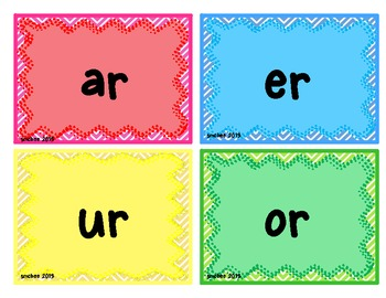 Word Work for R-Controlled Vowels  ar, or, ir, er, ur