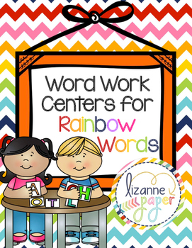 Word Work for Rainbow Words