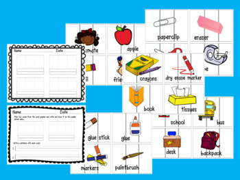 Word Work Center for Back to School