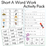 Word Work Short A Activity Pack, 10 Activities