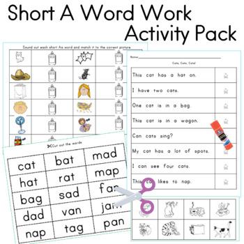 Short A Activity Pack, 10 Activities
