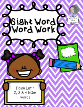 Word Work for Sight Words
