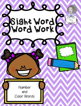 Word Work for Sight Words 4