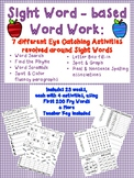 Year Long Word Work for Sight Words - First 200 Fry