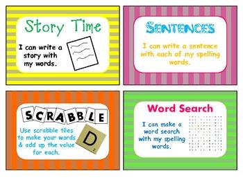 Word Work for Spelling Task Cards