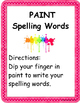 Word Work for Tactile Learners Center Signs and Labels