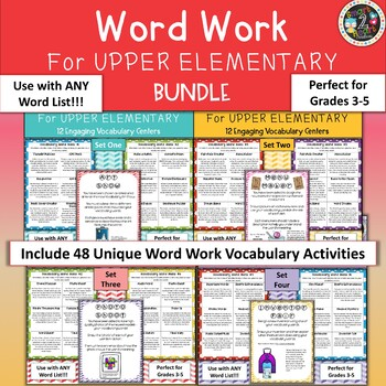 Word Work for Upper Elementary GROWING BUNDLE - Vocabulary Centers
