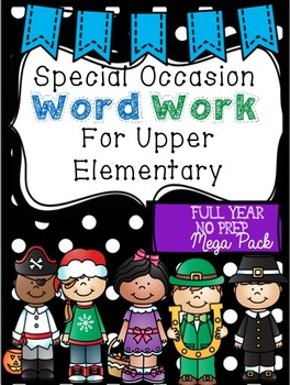 Word Work for Upper Elementary / No-Prep Vocabulary Center: Special Occasions