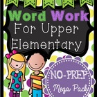 Word Work for Upper Elementary / No-prep vocabulary center