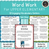Word Work for Upper Elementary - Vocabulary Centers