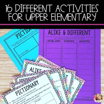 Word Work for Upper Elementary- Vocabulary Style